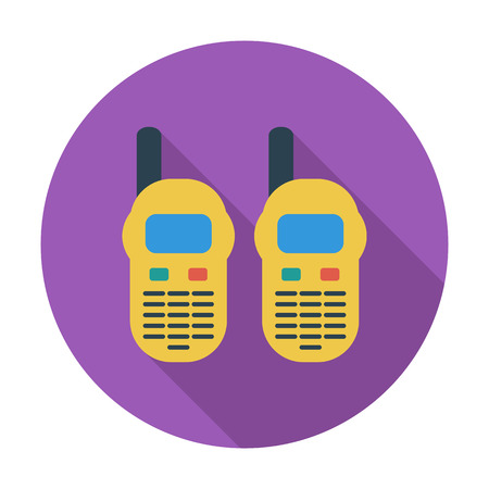 Portable radio. Flat vector icon for mobile and web applications. Vector illustration.