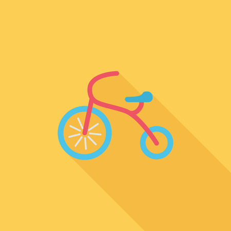 tricycle: Tricycle icon. Flat vector related icon with long shadow for web and mobile applications. It can be used as -   pictogram, icon, infographic element. Vector Illustration.