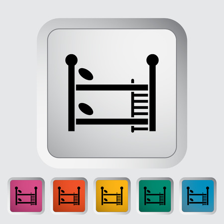 bunkbed: Bunk bed icon. Flat vector related icon for web and mobile applications. It can be used as -   pictogram, icon, infographic element. Vector Illustration.