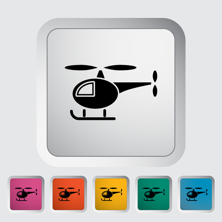 transposition: Helicopter icon. Flat vector related icon for web and mobile applications. It can be used as -   pictogram, icon, infographic element. Vector Illustration. Illustration