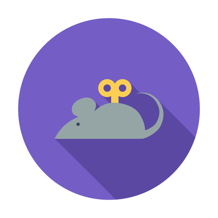 mouse: Mouse toy icon. Flat vector related icon with long shadow for web and mobile applications. It can be used as -   pictogram, icon, infographic element. Vector Illustration. Illustration