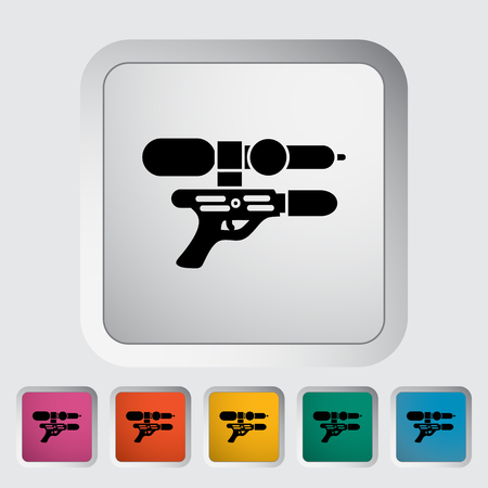 futuristic pistol: Gun toy icon. Flat vector related icon for web and mobile applications. It can be used as - pictogram,   infographic element. Vector Illustration. Illustration