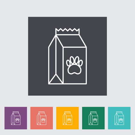 petshop: Pet food bag icon. Thin line flat vector related icon for web and mobile applications. It can be used as  Illustration