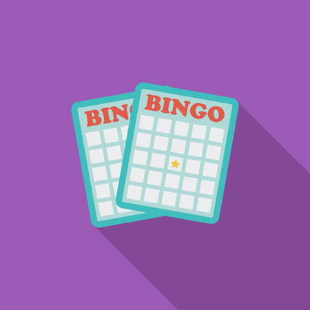recreational pursuit: Bingo icon. Flat vector related icon with long shadow for web and mobile applications.