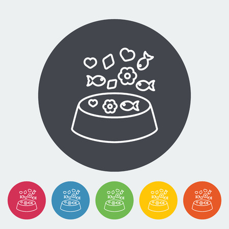 animal related: Animal bowl icon. Thin line flat vector related icon for web and mobile applications.  Illustration