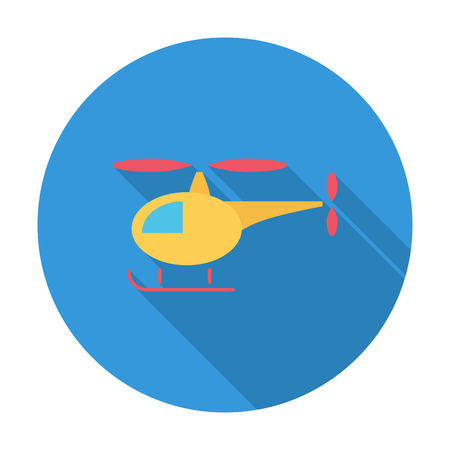 transposition: Helicopter icon. Flat vector related icon with long shadow for web and mobile applications.  Illustration