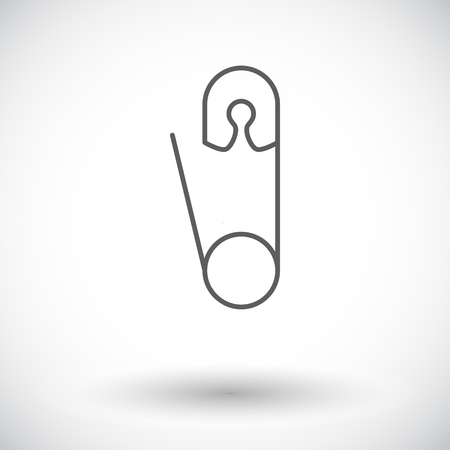 safety pin: Safety pin icon. Thin line flat vector related icon for web and mobile applications.