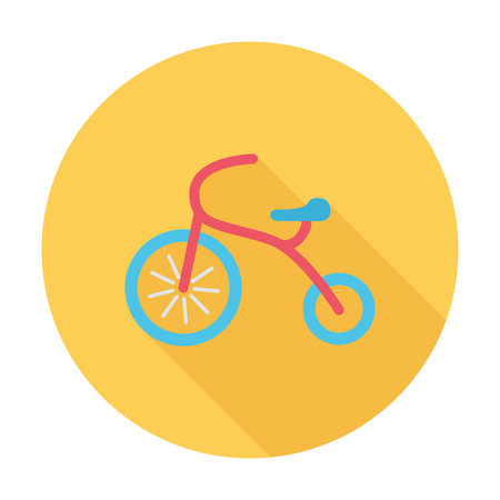 tricycle: Tricycle icon. Flat vector related icon with long shadow for web and mobile applications