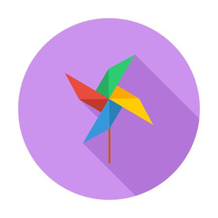 juguetes: Icono de la perinola. Vector plana icono relacionado con la larga sombra para web y aplicaciones m�viles.