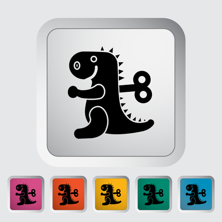 animated alien: Dinosaurus toy icon. Flat vector related icon for web and mobile applications.  Illustration