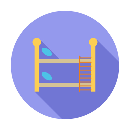 bunk: Bunk bed icon. Flat vector related icon with long shadow for web and mobile applications.