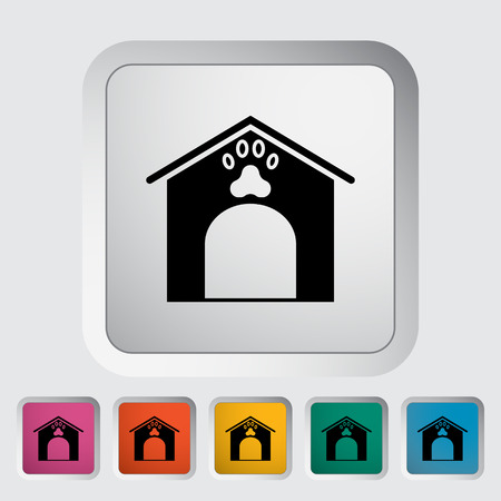 kennel: Kennel icon. Flat vector related icon for web and mobile applications.