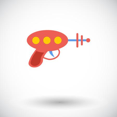 pistolas: Icono del juguete del arma. L�nea fina vector plana icono relacionado para web y aplicaciones m�viles.