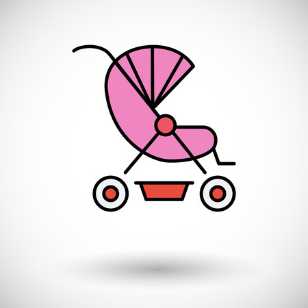suckling: Pram icon. Flat vector related icon for web and mobile applications.   Illustration