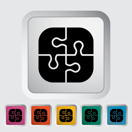 medium group of people: Puzzle icon. Flat vector related icon for web and mobile applications.