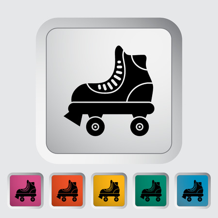 roller skate: Roller skate icon. Flat vector related icon for web and mobile applications.