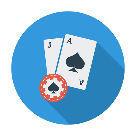 wagers: Blackjack. Flat vector icon for mobile and web applications. Vector illustration.