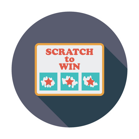 scratch card: Scratch card. Flat vector icon for mobile and web applications. Vector illustration. Illustration