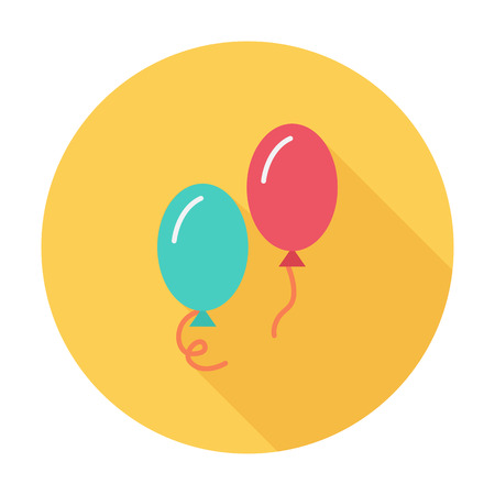 ballon: Ballon icon icon. Flat vector related icon with long shadow for web and mobile applications. It can be used as - logo, pictogram, icon, infographic element. Vector Illustration. Illustration