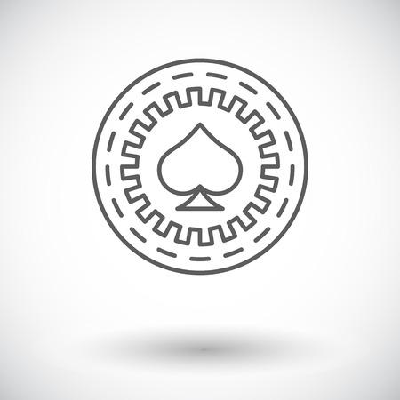 gambling chips: Gambling chips. Single flat icon on white background. Vector illustration.