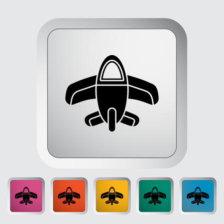 private jet: Airplane toy icon. Flat vector related icon for web and mobile applications. It can be used as - logo, pictogram, icon, infographic element. Vector Illustration.