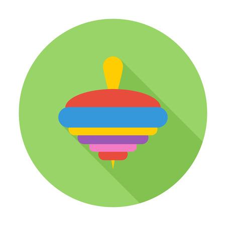 molinete: Icono de la perinola. Vector plana icono relacionado con la larga sombra para web y aplicaciones m�viles. Se puede utilizar como - logotipo, pictograma, icono, elemento de infograf�a. Ilustraci�n del vector.