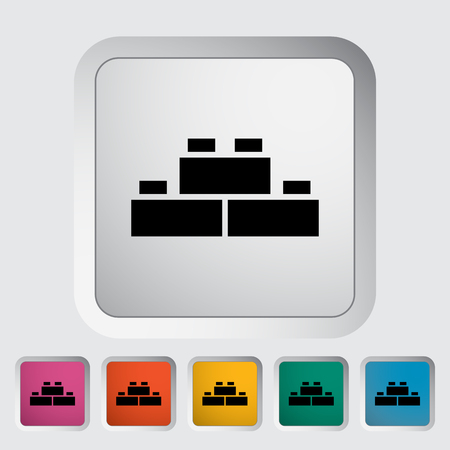 building block: Building block icon. Flat vector related icon for web and mobile applications. It can be used as - logo, pictogram, icon, infographic element. Vector Illustration.