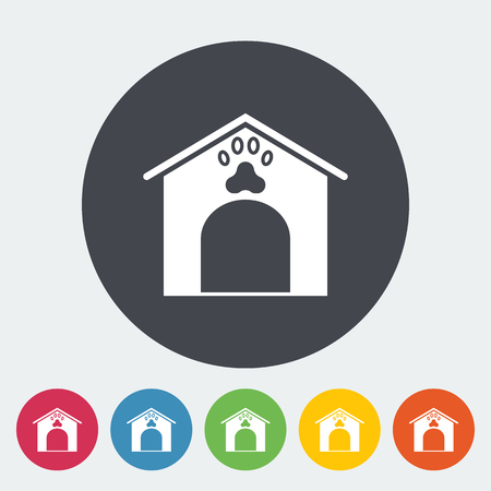 kennel: Kennel icon. Flat vector related icon for web and mobile applications. It can be used as - logo, pictogram, icon, infographic element. Vector Illustration. Illustration