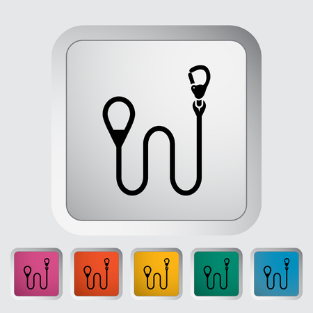 leash: Leash icon. Flat vector related icon for web and mobile applications. It can be used as - logo, pictogram, icon, infographic element. Vector Illustration. Illustration