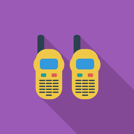 portable radio: Portable radio icon. Flat vector related icon with long shadow for web and mobile applications. It can be used as - logo, pictogram, icon, infographic element. Vector Illustration.