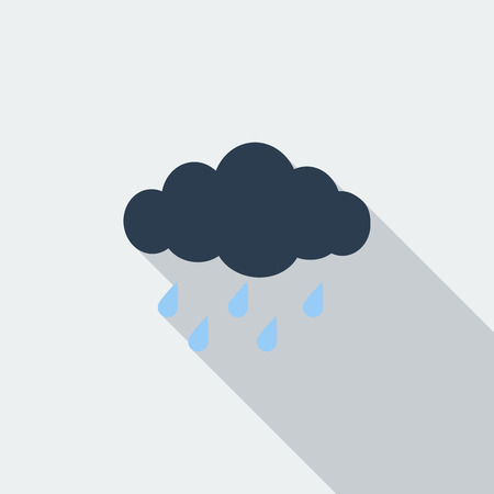 hailstorm: Rain icon. Flat vector related icon with long shadow for web and mobile applications. It can be used as - logo, pictogram, icon, infographic element. Vector Illustration.