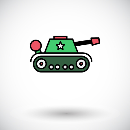 trooper: Tank toy icon. Flat vector related icon for web and mobile applications. It can be used as - logo, pictogram, icon, infographic element. Vector Illustration. Illustration