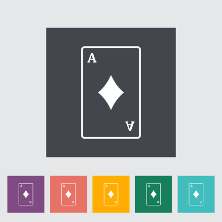 double the chances: Play card. Single flat icon on the button.