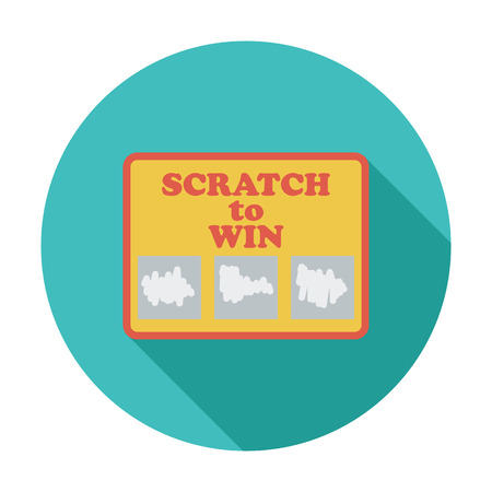 scratch card: Scratch card Flat vector icon for mobile and web applications. Illustration