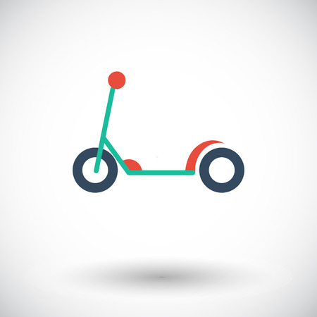 ni�o empujando: Scooter child icon. Flat vector related icon for web and mobile applications.