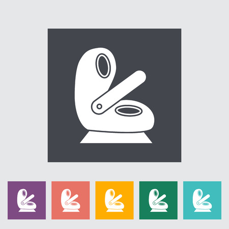 si�ge voiture: Child car seat icon. Flat vector related icon for web and mobile applications.