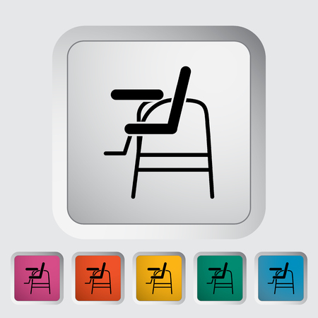 offspring: Chair for baby icon. Flat vector related icon for web and mobile applications.