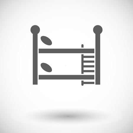 bunkbed: Bunk bed icon. Flat vector related icon for web and mobile applications.