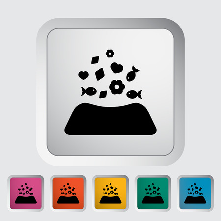 animal related: Animal bowl icon. Flat vector related icon for web and mobile applications. Illustration