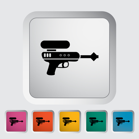 futuristic pistol: Gun toy icon. Flat vector related icon for web and mobile applications.