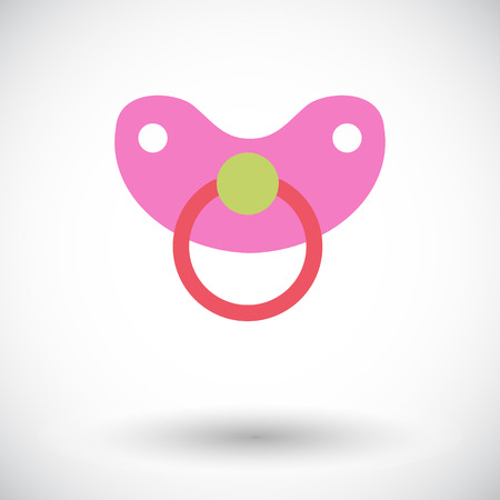 comforter: Nipple icon. Flat vector related icon for web and mobile applications.  Illustration
