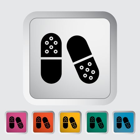 a tablet blister: Pills icon. Flat vector related icon for web and mobile applications.