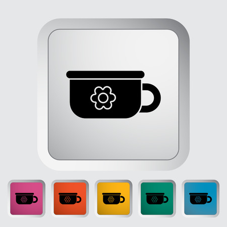 Potty icon. Flat vector related icon for web and mobile applications.  Illustration