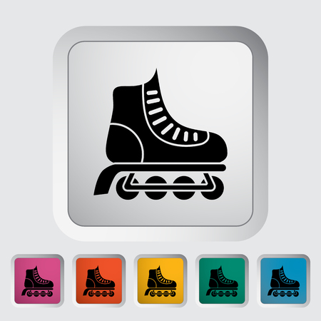 rollerskate: Roller skate icon. Flat vector related icon for web and mobile applications. Illustration