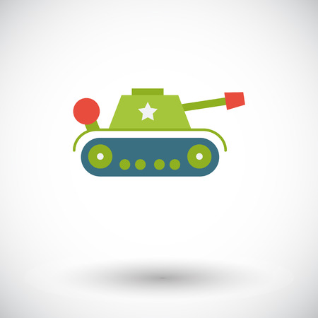 trooper: Tank toy icon. Flat vector related icon for web and mobile applications.  Illustration