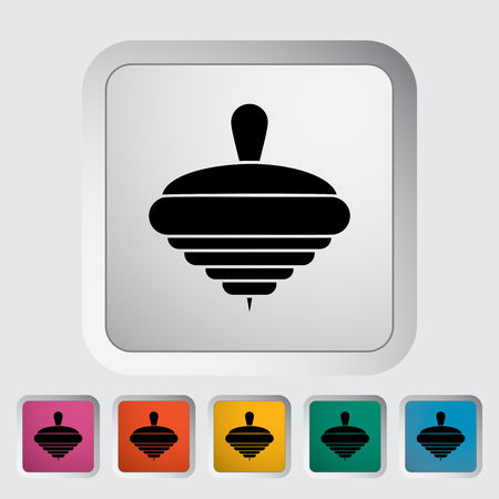 molinete: Icono de la perinola. Vector plana icono relacionado para web y aplicaciones m�viles. Vectores