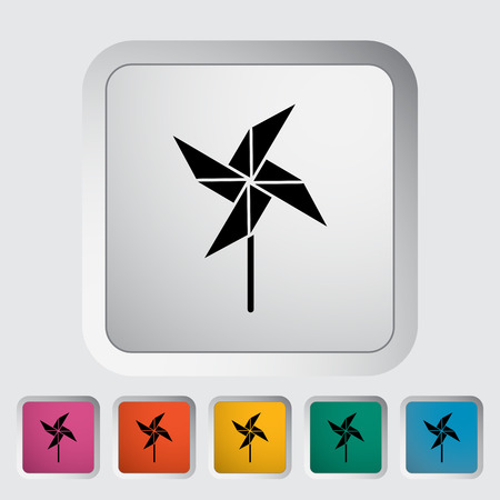 perinola: Whirligig icon. Flat vector related icon for web and mobile applications.  Foto de archivo