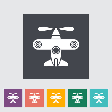 private jet: Airplane toy icon. Flat vector related icon for web and mobile applications.