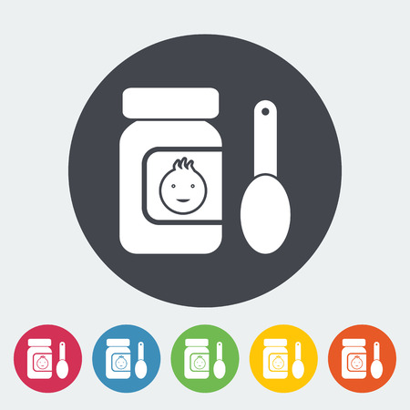 can food: Baby food icon. Flat vector related icon for web and mobile applications.