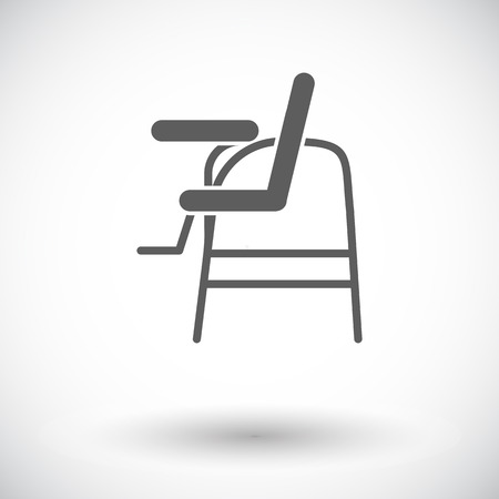 offspring: Chair for baby icon. Flat vector related icon for web and mobile applications. It can be used as - logo, pictogram, icon, infographic element. Vector Illustration. Illustration